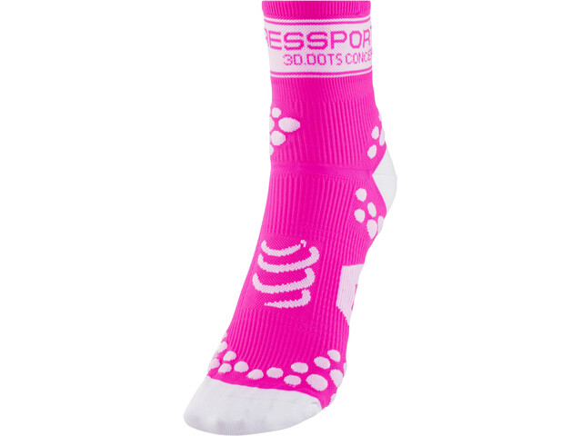 Compressport Racing V2 - Chaussettes course à pied - rose
